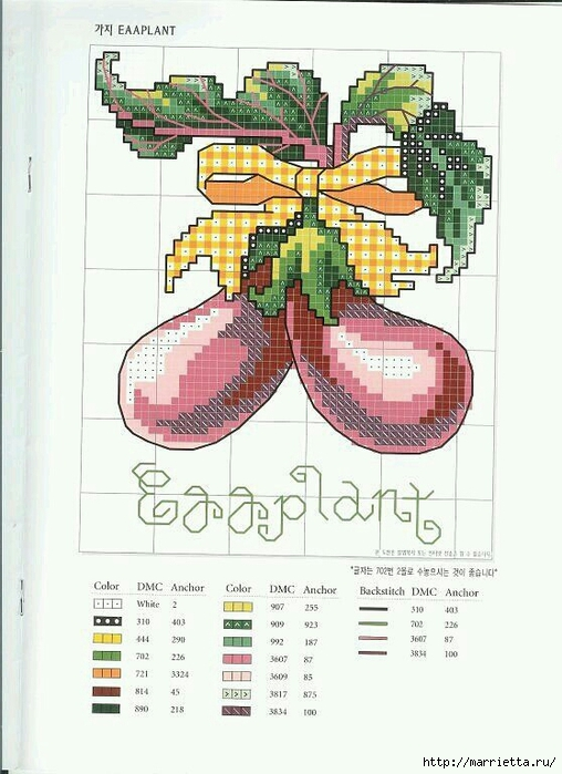 Миниатюрная вышивка. Овощи. Схемы (6) (508x700, 236Kb)