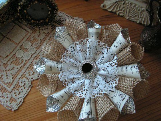 Елочные украшения из мешкови…