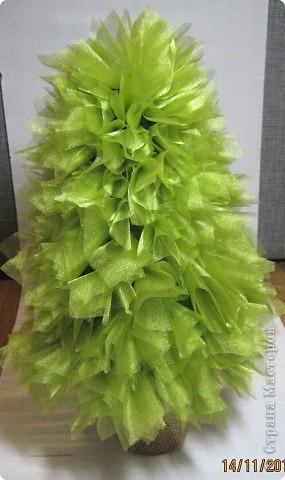 Мастер-класс, Свит-дизайн: МК елочки из конфет Новый год. Фото 19