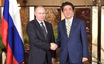 Абэ рассказал о выраженном Путину сожалении из-за российских военных на Курилах