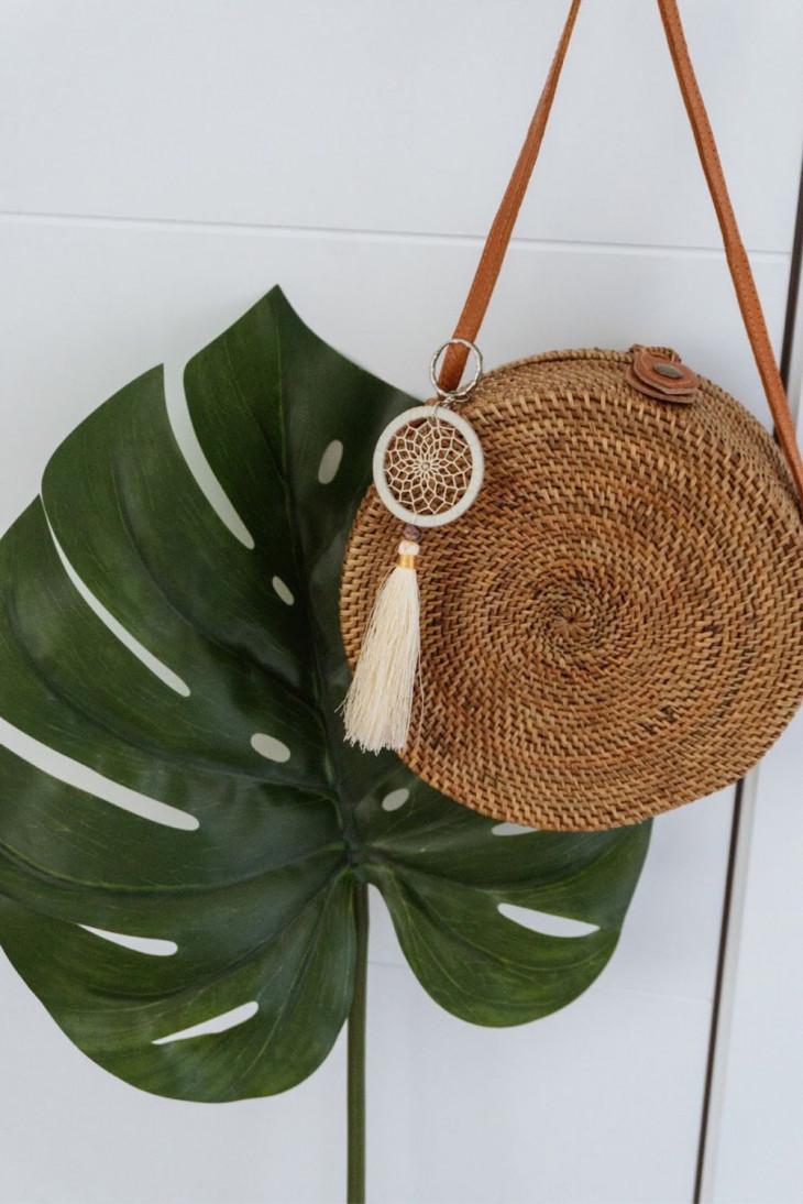 Плетеная сумка из ротанга