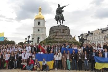 В центре Киева прошел марш вышиванок