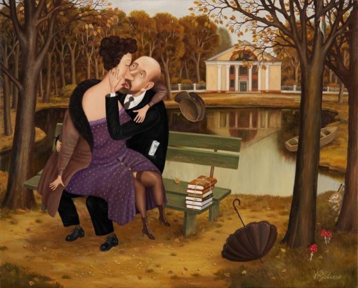 Прекрасное далёко: советское прошлое в иронично-жизненных работах Валентина Губарева