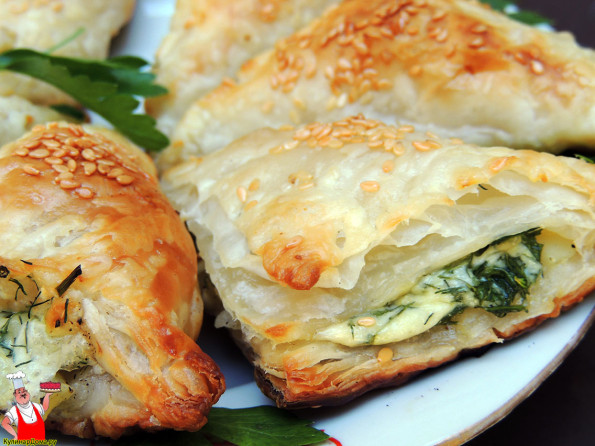 Пирог с сыром и картошкой из слоеного теста рецепт