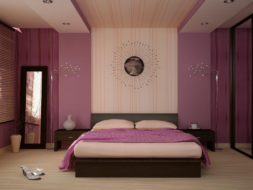 прямоугольная спальня в двух оттенках