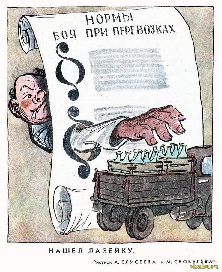 Советская антиалкогольная карикатура