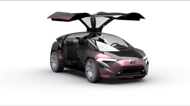 Автомобиль будущего: концепт кроссовера Lada Triangle-X 2025 показали на видео