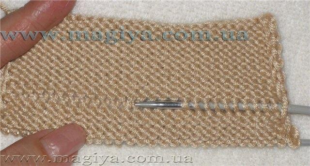 Как при вязании спицами сделать складки на