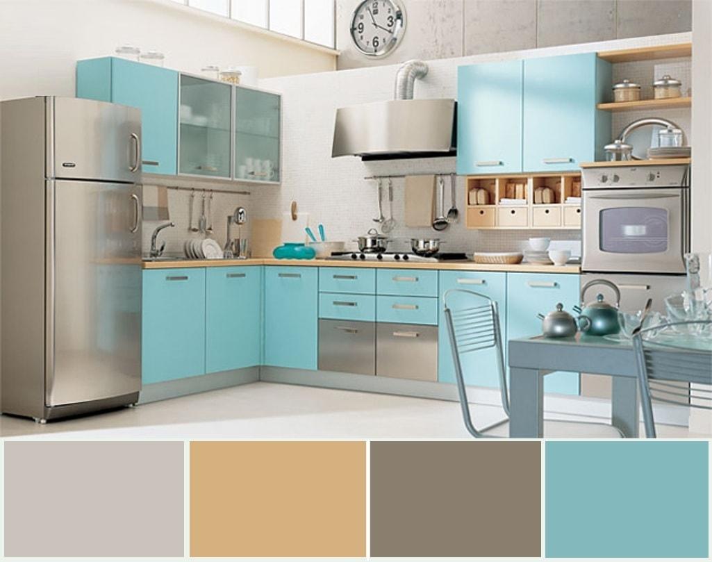 Сдержанный интерьер просторной кухни в современном стиле