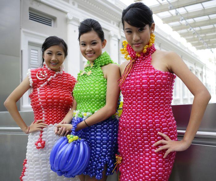 платье, сделать платье, шарики платье