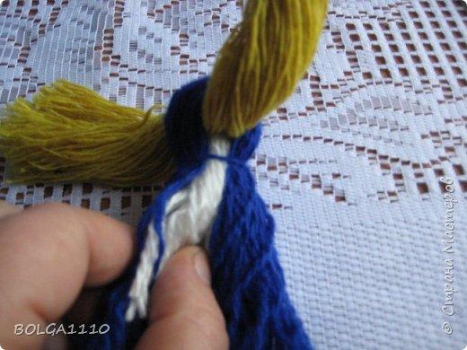 Мастер-класс Поделка изделие Синичка Бусины Клей Проволока Пряжа Семена фото 7