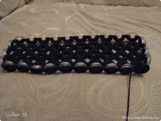 Сумочка из колец с бисером. Вязание крючком без отрыва ниток (9) (520x390, 119Kb)