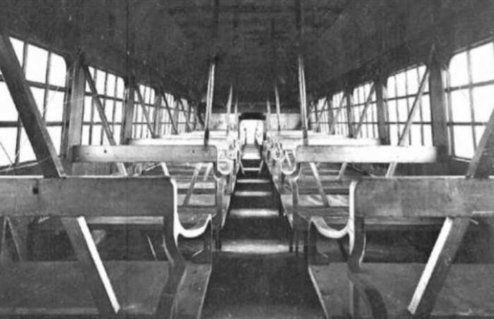 В салоне Caproni Ca.60 предусмотрены места для 100 пассажиров.   Фото: airwar.ru.