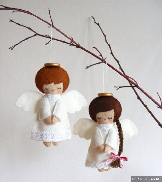Ангелочки из фетра своими руками фото