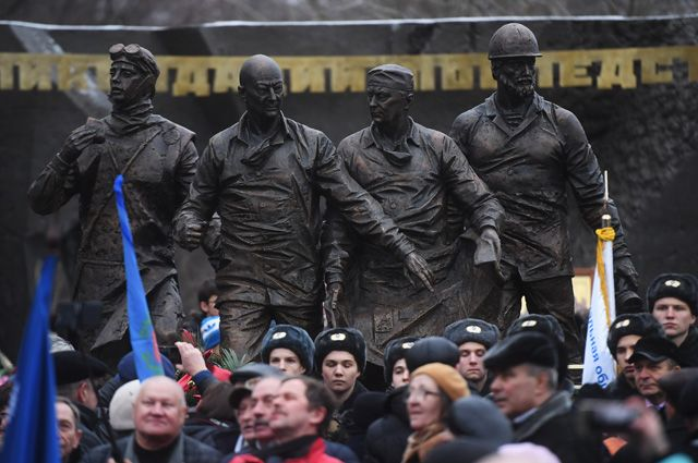 Открытие монумента участникам ликвидации последствий катастрофы в Чернобыле