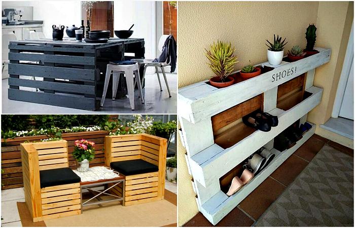 20 образцов стильной и практичной мебели, которую можно сделать из поддонов