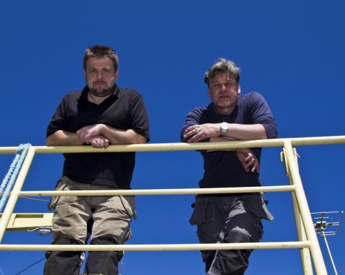 Питер Линдберг и Деннис Айсберг руководители команды, совершавшей погружение к НЛО на дно Балтийского моря.