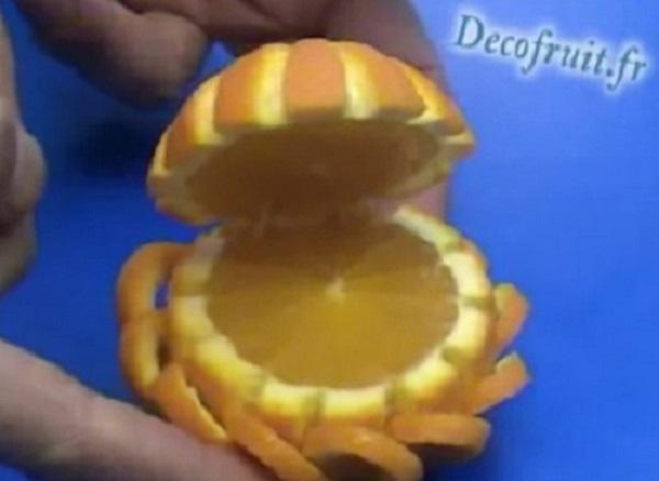 как красиво нарезать апельсин