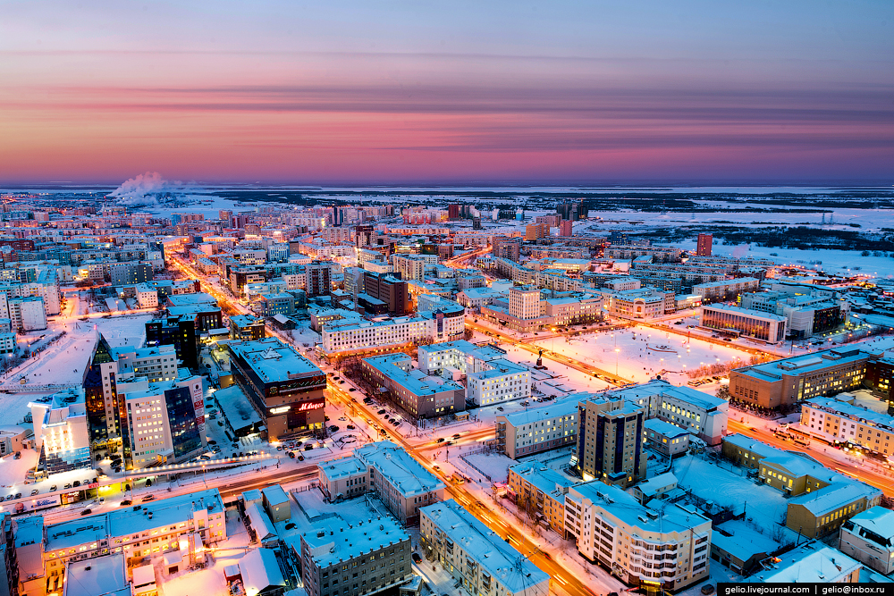 Якутск с высоты: крупнейший город на вечной мерзлоте