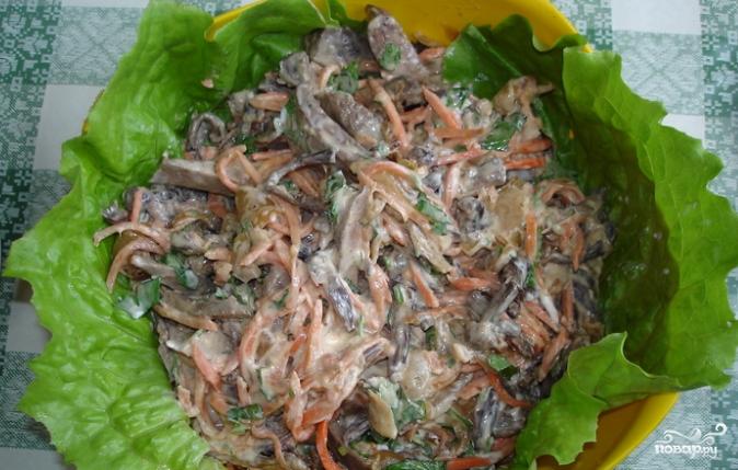 Салаты с печенкой куриной рецепты с