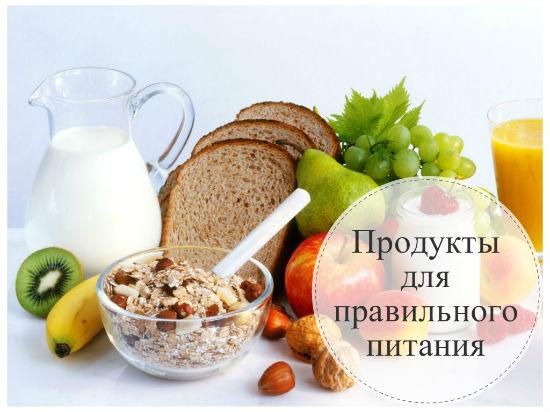 Основные продукты для правильного питания