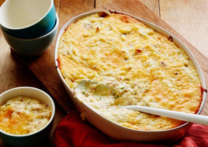 Запеченный картофель в сливках с сыром