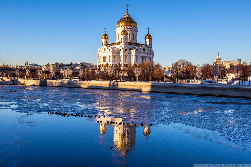 Прогулка по ледяной Москве