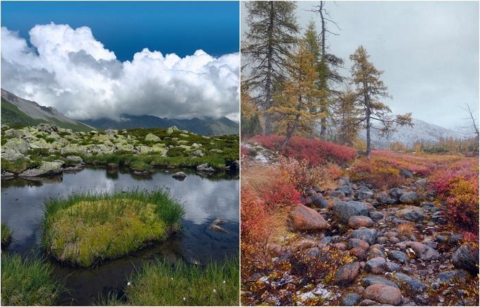 Туманы, моря и горы на атмосферных осенних фотопейзажах, снятых на севере России