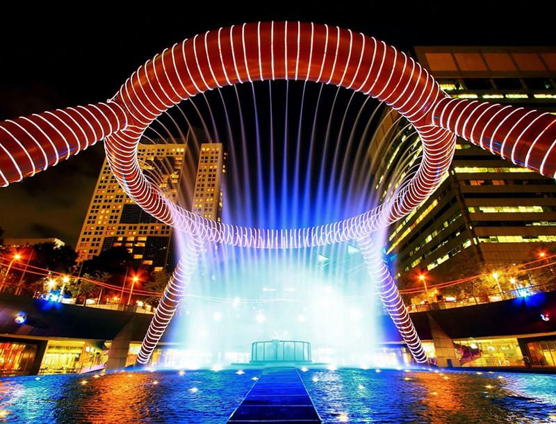 """""""Фонтан Богатства"""", Сантек-Сити, Сингапур город, достопримечательность, интересное, мир, подборка, страна, фонтан, фото"""