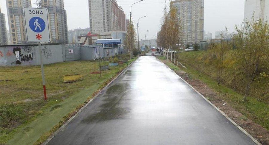 В Питере чиновники «отремонтировали» пешеходную дорожку фотошопом