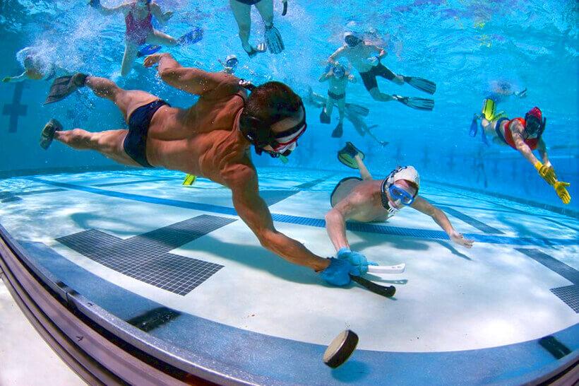 Подводный хоккей - экстремальный вид спорта