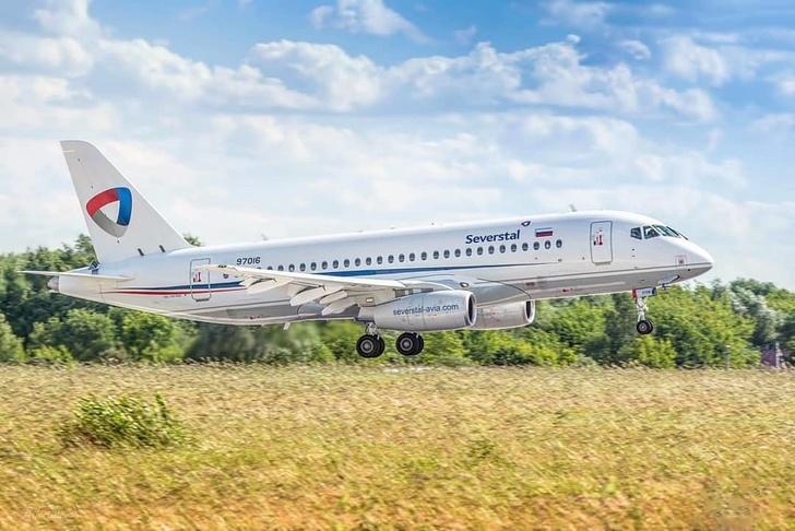 Первый Сухой Суперджет 100 поставлен авиакомпании Северсталь!