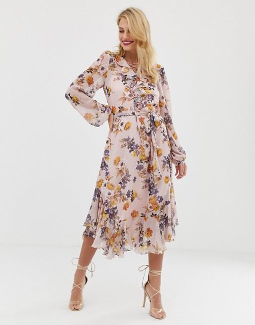 Красивые платья с цветочным принтом