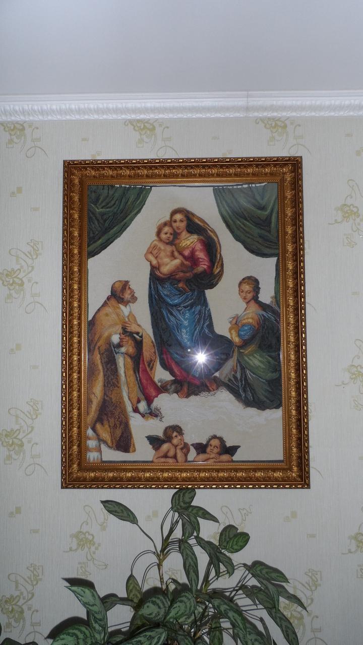 Набор вышивки сикстинская мадонна 186