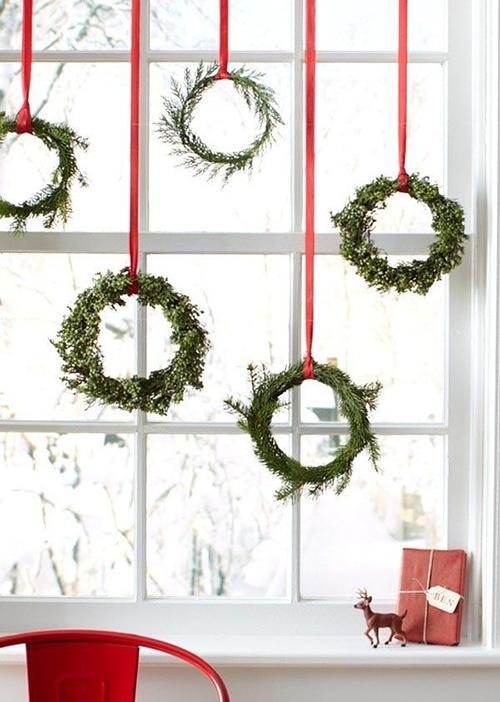 20 идей для украшения окон новый год, окно, украшение