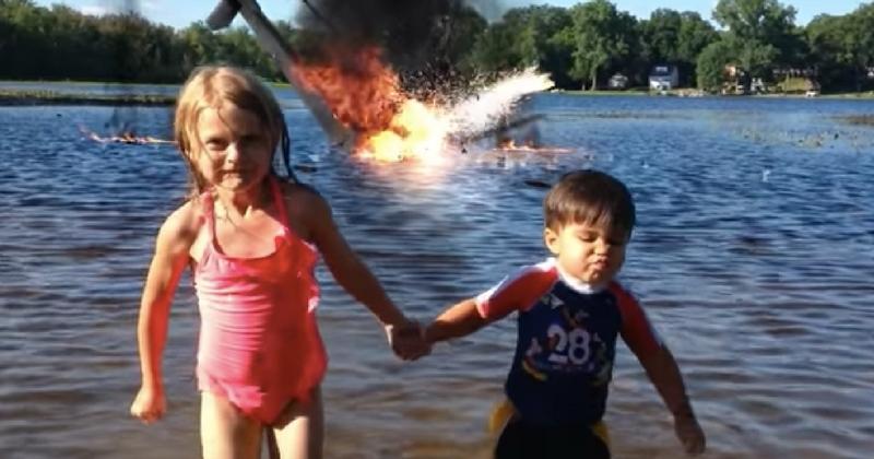 Дети едва смогли спастись от взрыва! Как им это удалось?