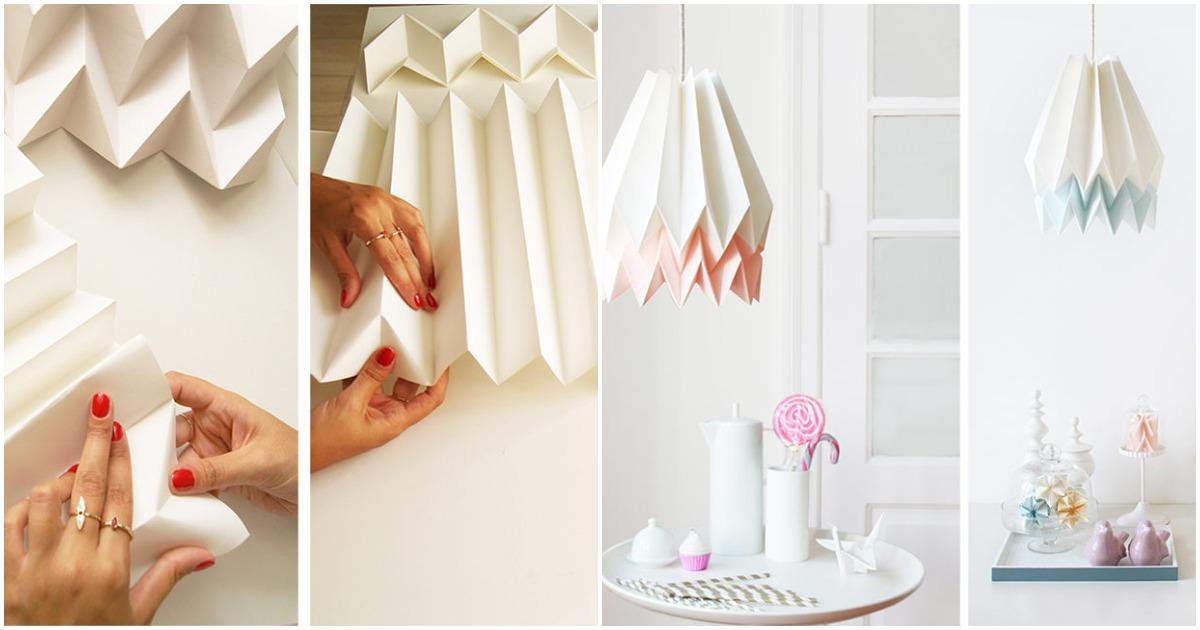 Абажур в технике оригами для любителей экодизайна