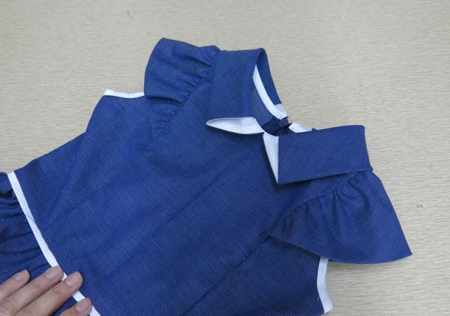 Шьем воротник-трапецию на платье