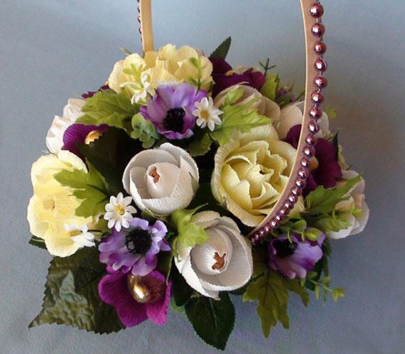Цветы из упаковочной ленты своими руками фото 991
