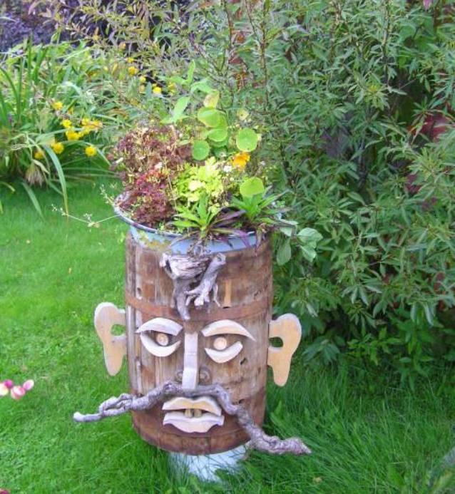 Новые поделки своими руками для сада и огорода фото