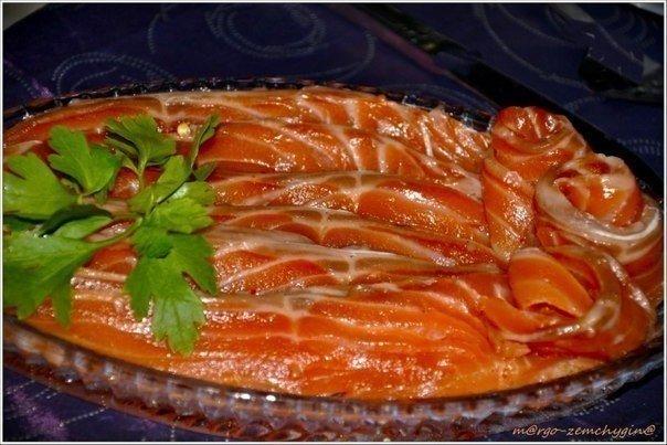 По этому рецепту можно солить не только форель, но и семгу, и лосося и горбушу.