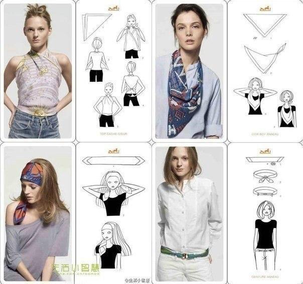 20 оригинальных вариантов как носить шарф 4