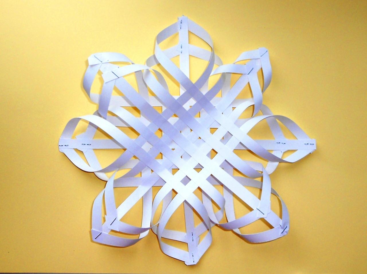 Снежинка из бумаги. Новогодн…