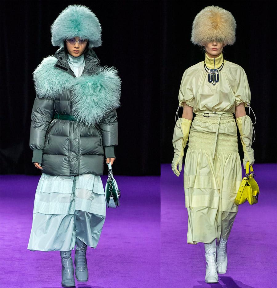Женские меховые шапки