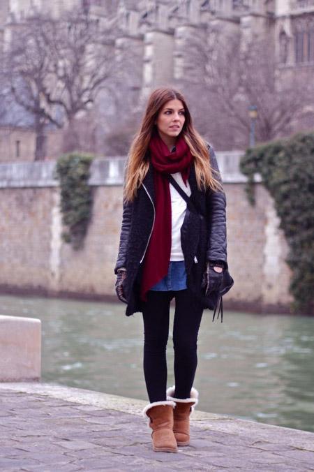 С чем носить угги зимой, стильные советы и красивые фото