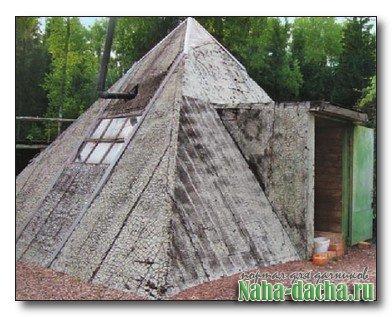 Построить пирамиду как дом