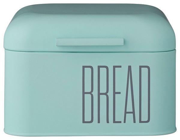 Оригинальная хлебница голубая с надписью BREAD