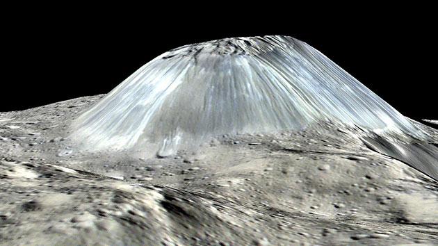 Ахуна Монс: конусообразная гора на Церере когда-то была ледяным вулканом