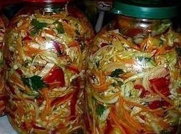 Салат из свежей белокочанной капусты БЕЗ закрутки