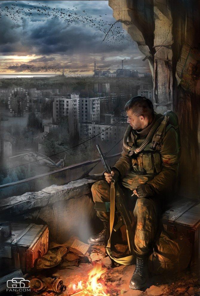 РАБОТЫ Ивана Хивренко Чернобыль, апокалипсис, война, рисунки